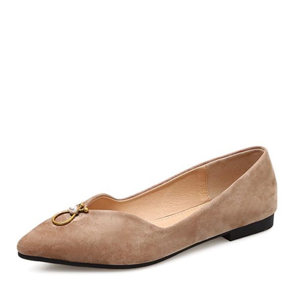 De mujer Ante Planos Cerrados zapatos