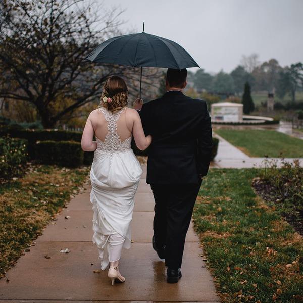 Sort lim Bryllup Paraplyer