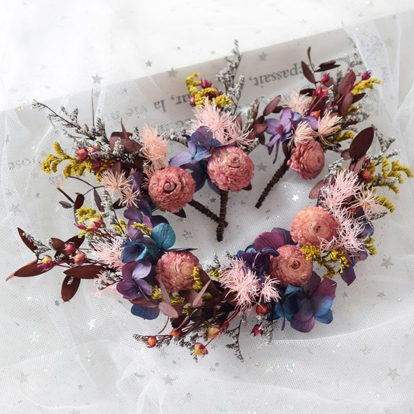 Damen Besondere Seide Blumen Haarnadeln/Stirnbänder