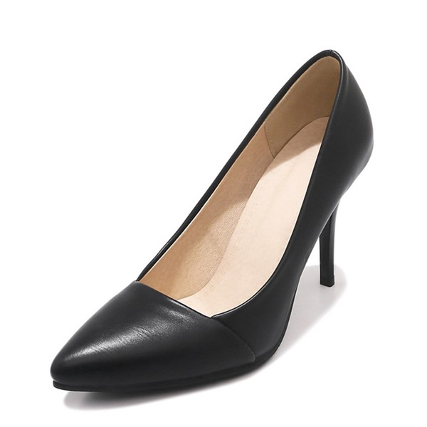 Donna PU Tacco a spillo Stiletto Punta chiusa scarpe