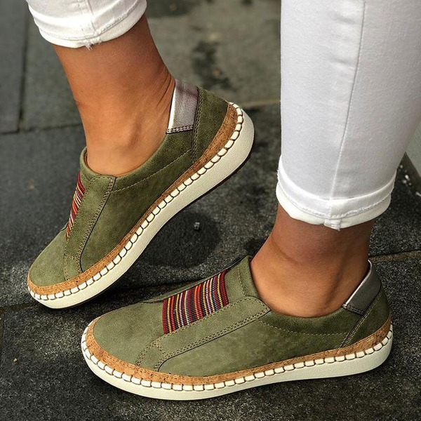 Kvinnor Mocka Flat Heel Platta Skor / Fritidsskor med Andra skor