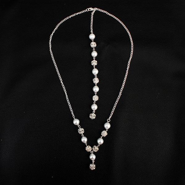 Unik Fauxen Pärla med Oäkta Pearl Kvinnor Mode Halsband