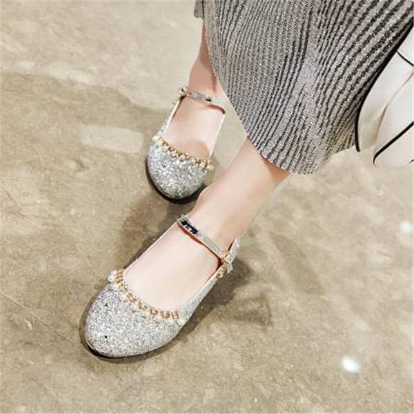 Dla kobiet Byszczący brokat Obcas Slupek Czólenka Mary Jane أحذية