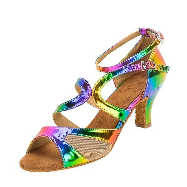 Женщины кожа Латино Обувь для танцев