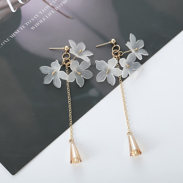Flower Shaped Alloy Acrylic With Acrylic Women's Fashion Earrings (Sold in a single piece)