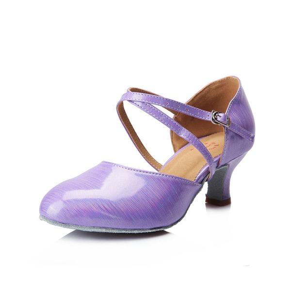 Femmes Similicuir Talons Escarpins Salle de bal avec Lanière de cheville Chaussures de danse