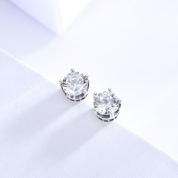 Ladies' Elegant 925 Sterling Silver Cubic Zirconia Earrings For Bride/For Bridesmaid/For Mother