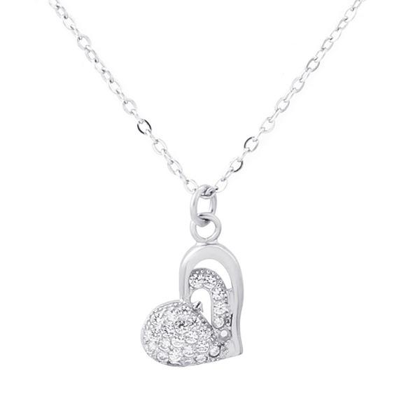 Dames Elegant S925 Silver met Hart Kettingen Haar/Vrienden/Bruid