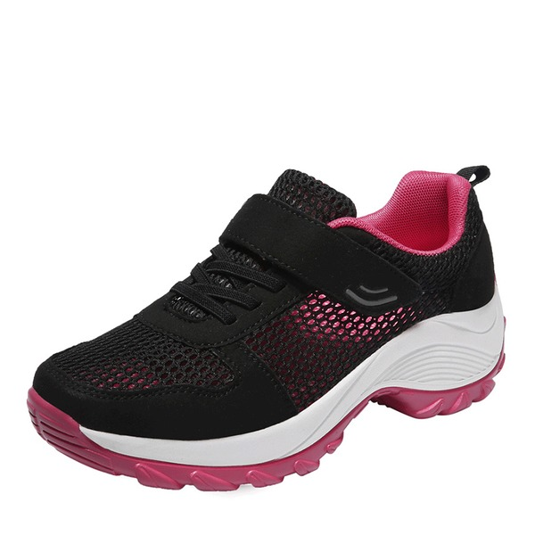 Women's Leather Mesh With Velcro Sneakers & Athletic