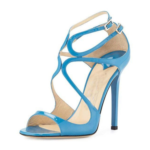 Vrouwen PU Stiletto Heel Sandalen Pumps Peep Toe met Gesp schoenen
