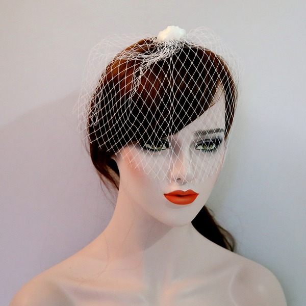 Ladies Beautiful Net Yarn/Satin Forehead Jewelry/Hats