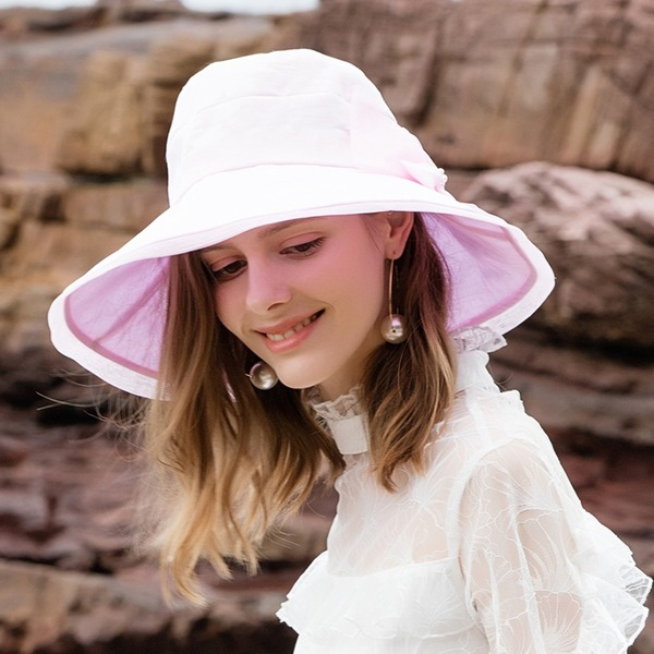 Ladies' Classic/Nice/Romantic Polyester With Imitation Pearls Floppy Hats