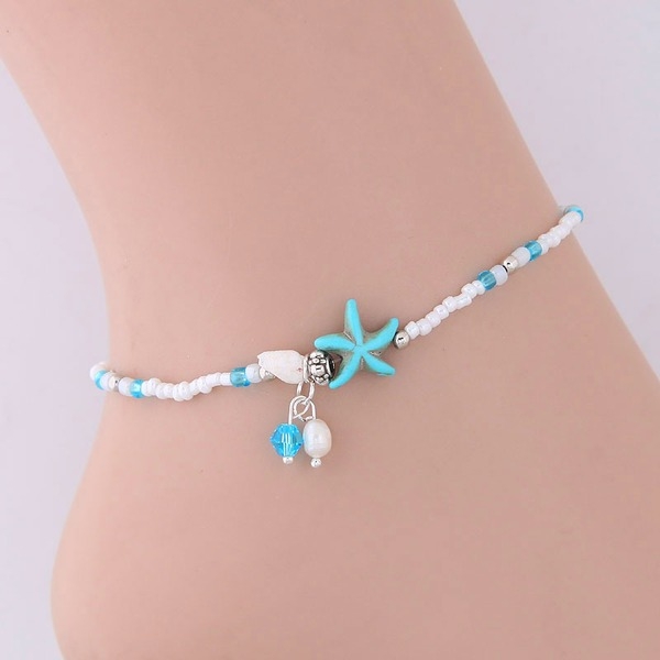 Starfish Alloy Imitation Turquoise Women's (Sold in a single piece)