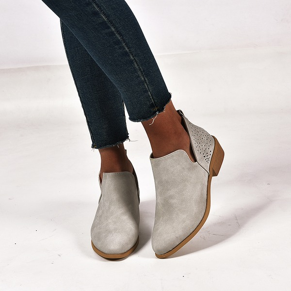 Women's Suede Chunky Heel Ankle Boots shoes