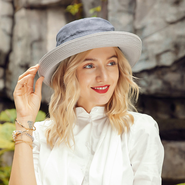 Ladies' Simple/Pretty Cotton/Polyester With Bowknot Beach/Sun Hats