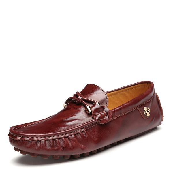 Mannen Echt Leer U-Tip Casual Loafers voor heren
