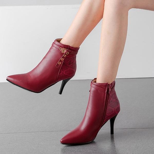 Vrouwen PU Stiletto Heel Pumps Laarzen أحذية