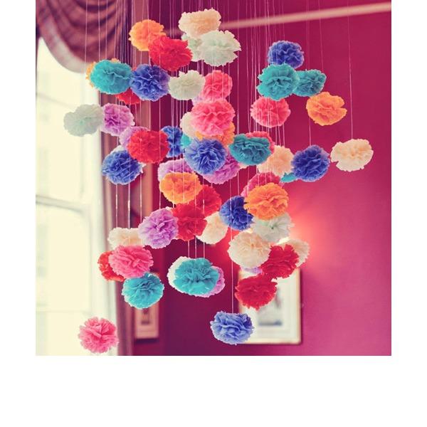 5pcs/set - 6inch Tissue Pom Pom Flower Wedding Party Decoration (Set of 5)