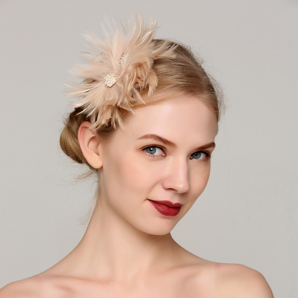 Dames Style Classique Feather avec Feather Chapeaux de type fascinator