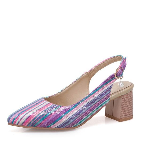 Femmes Similicuir Talon bottier Sandales Bout fermé Escarpins chaussures