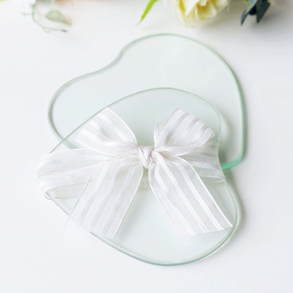Heart Shaped Heart Shaped Glass Creative Gifts With Ribbons