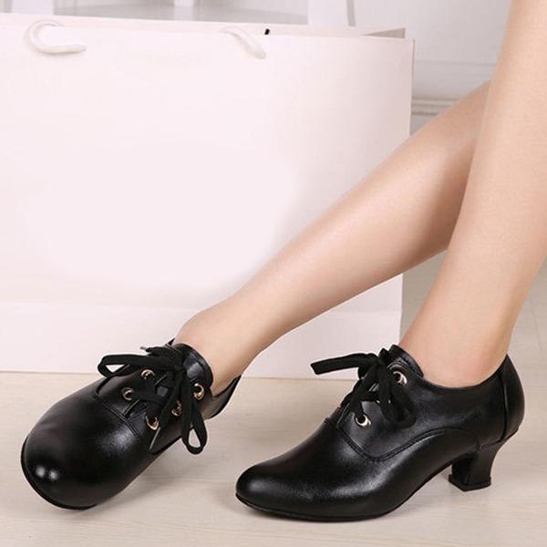 De mujer Piel Botas Swing Zapatos de danza