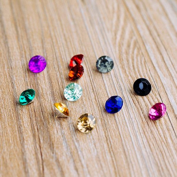 Kolorowy Akryl Diamentowe Elementów (Zestaw 50)