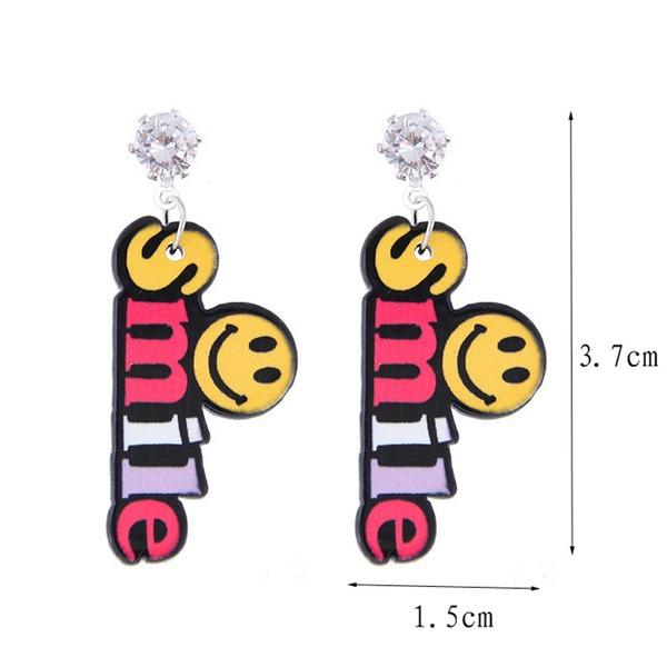 Brillant Alliage Acrylique Boucles d'oreille de mode