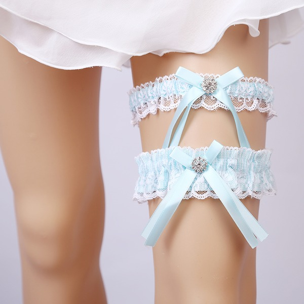 2-Piece/Elegant Lace With Rhinestone Wedding Garters