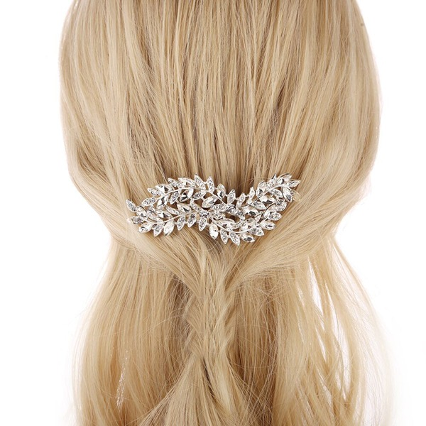 Ladies Special Alloy Combs & Barrettes With Rhinestone (Sold in single piece)