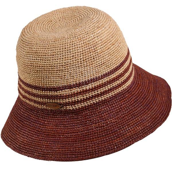 Ladies' Classic Raffia Straw Bowler/Cloche Hat