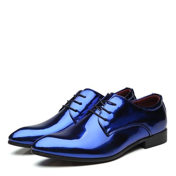 Erkek rugan Bağcıklı Derbiler Elbise Ayakkabıları Erkek Oxford Ayakkabı