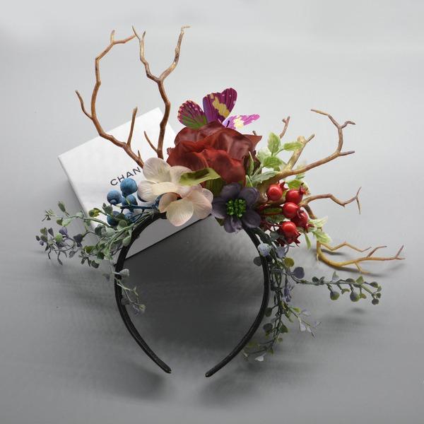 Barnets Iögonfallande/Charmen polyester/Tyg med Blomma Fascinators/Kentucky Derby Hattar