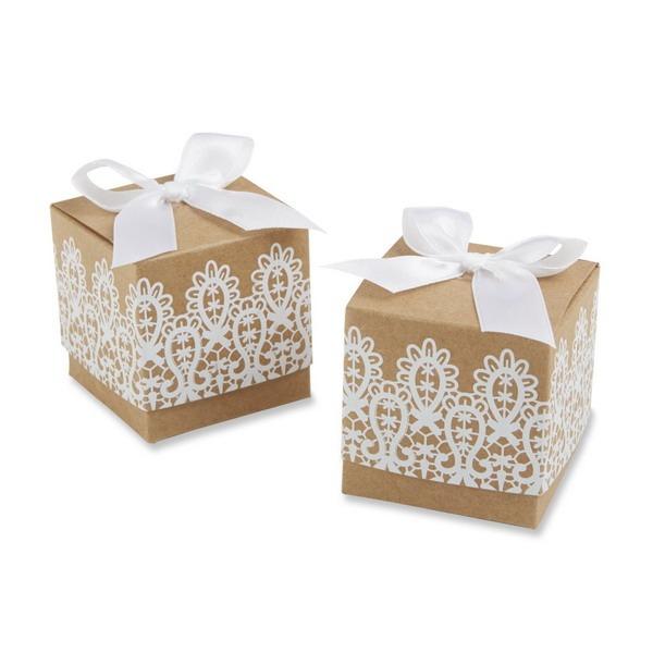 Klassisch Cubic Geschenkboxen mit Bänder (Satz von 12)