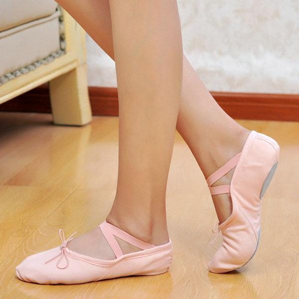 Детская обувь Холст На плокой подошве Балет Танец живота Обувь для танцев