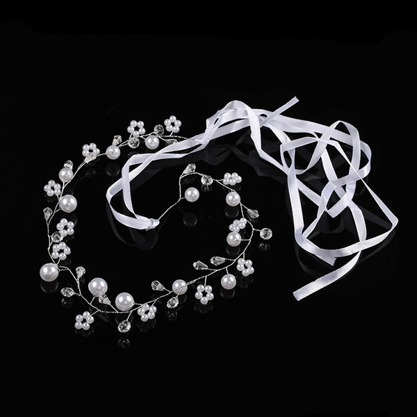 Rhinestone/Alloy/Imitation Pearls Headbands With Rhinestone (Sold in single piece)