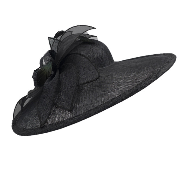 Dames Glamour/Accrocheur/Jolie Batiste avec Feather Kentucky Derby Des Chapeaux/Chapeaux Tea Party