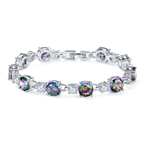 Exquisite Silver Plated With Zircon Ladies' Fashion Bracelets