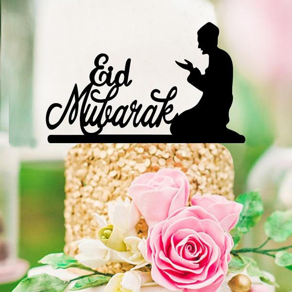 Muslim Islam Eid al-Fitr Religious/Classic Acrylic Cake Topper (Sold in a single piece)