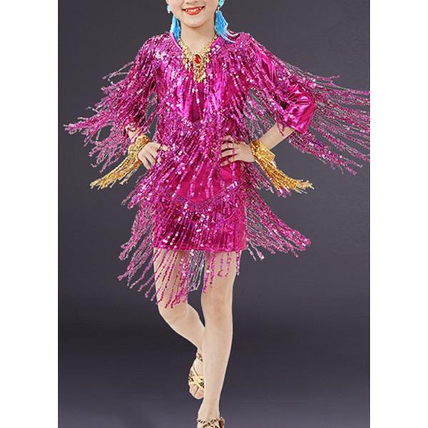 Dla dzieci Ubiór Taneczny Spandex Taniec Latynoski Suknie