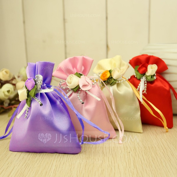 Favor Bags With Flowers (Set of 12)