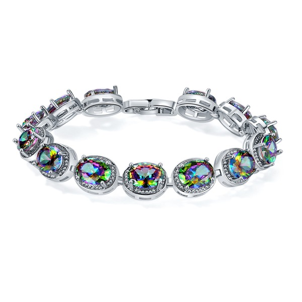 Fashional Platinum Plated With Zircon Ladies' Fashion Bracelets