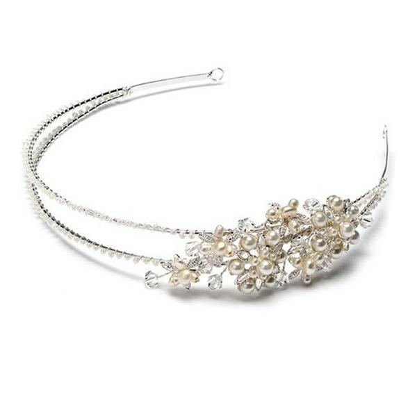 Magnifique Cristal/Strass/Alliage/De faux pearl Bandeaux avec Strass/Perle Vénitienne/Cristal (Vendu dans une seule pièce)