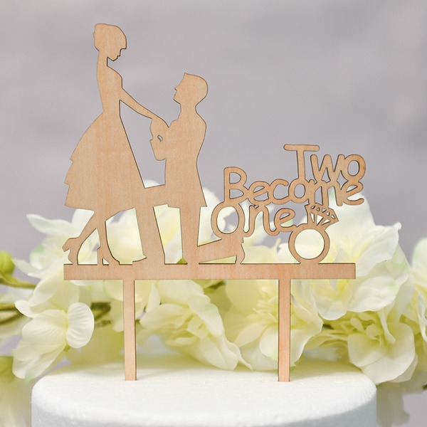 Mr. & Mrs./Love Is Sweet Wood Cake Topper (Sold in a single piece)