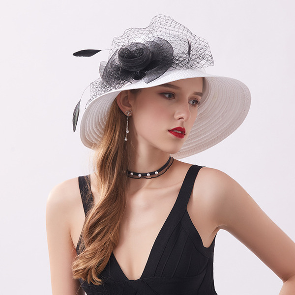 Ladies ' Classic/Smuk Satin med Imiteret Pearl Strand / Sun Hatte/Kentucky Derby Hatte/Tea Party Hats