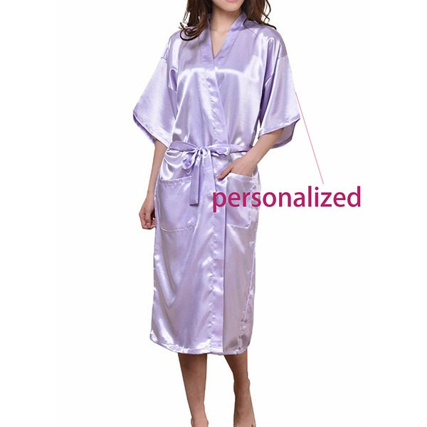 Personalized Nylon Bridal/Feminine Robe(20 letters or less,the color of letter is white)