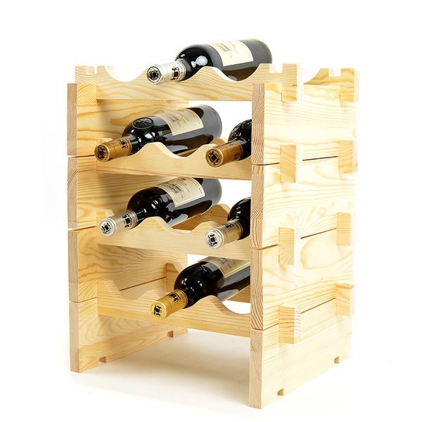 Klassiek Hout Flessenhouder / Wijn Rek (Verkocht in een verdieping)