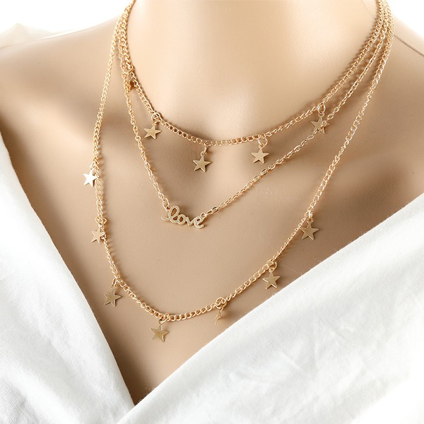 stjerne formet Legering Ladies ' Fashion Halskæde (Sælges i et enkelt stykke)