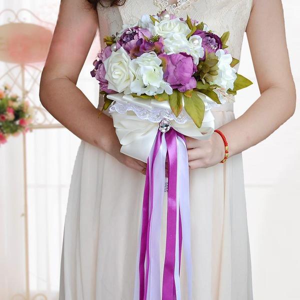 Elegant Ronde Satijn Bruids Boeketten/Bruidsmeisje Boeketten (verkocht als één geheel) -