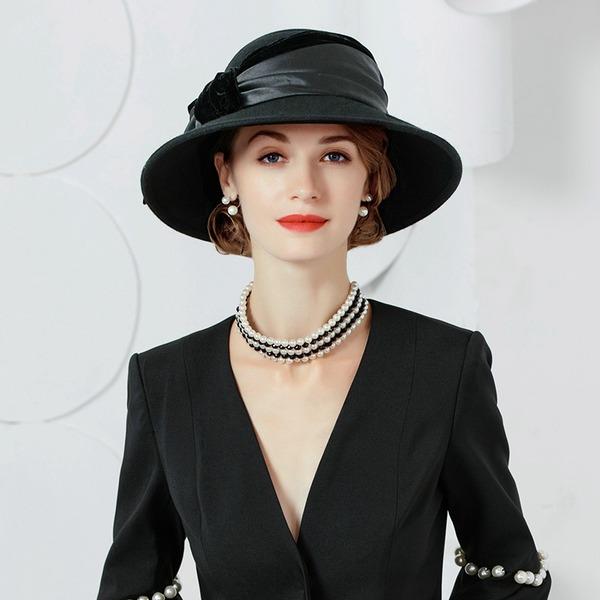 Sonar Naisten Herättävää Villa/Sametti jossa Bowknot Keilaaja / Clochen hattu